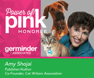 Amy Shojai is the 11th Germinder20 Power of Pink Honoree from Germinder + Associates